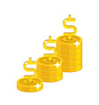 dollar growing stack vector image vector image