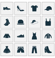 dress icons set collection of dress half-hose vector image vector image