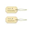 Eco tags set 14 vector image