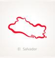 el salvador - outline map vector image vector image
