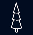 fir tree icon outline style vector image vector image