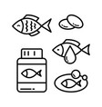 fish oil icon set vector image vector image