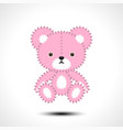 flurry teddy bear vector image vector image