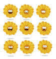 funny sunflower emoticons vector image vector image