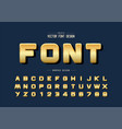 gold font and round alphabet golden design vector image vector image