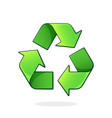 green recycling symbol worldwide attention sign vector image