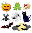halloween icons set isolated on white background vector image vector image