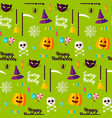 halloween party seamless pattern vector image vector image