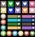 Heart sign icon Love symbol Set from twenty seven vector image vector image