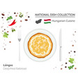 hungarian cuisine european national dish vector image vector image