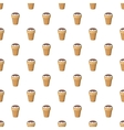 Ice cream with chocolate in waffle cup pattern vector image