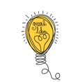 Idea Light bubl design vector image