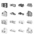 isolated object facade and housing icon vector image vector image
