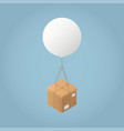 isometric delivery concept vector image vector image