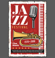 jazz music festival retro poster vector image