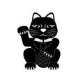 maneki neko lucky cat vector image vector image