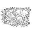 menu hand drawn cartoon doodles vector image vector image