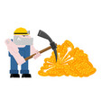 mining bitcoin minir extraction crypto currency vector image vector image