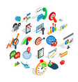 new business icons set isometric style vector image