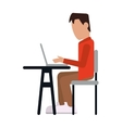 person using laptop icon vector image vector image