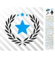 proud flat icon with bonus vector image