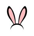 rabbit ears head accessories vector image