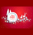 red winter holiday vector image