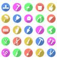 repair work tools flat icons set vector image