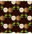 Seamless background with coconuts vector image vector image