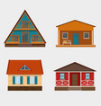 set of cottage houses and alpine chalet vector image vector image
