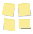 set yellow stickers papers note paper vector image vector image