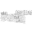 sightseeing word cloud concept vector image vector image