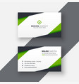 simple green geometric business card design vector image vector image