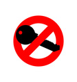 Stop key It is forbidden to use key from door Ban vector image
