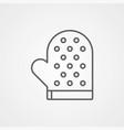 stove glove icon sign symbol vector image vector image