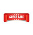 super sale ribbon icon discount sticker label on vector image vector image