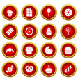 sweets candy cakes icons set simple style vector image vector image