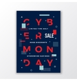 Swiss Style Cyber Monday Sale Poster Minimal vector image vector image