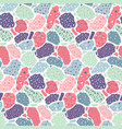 terrazzo seamless pattern modern collage vector image vector image