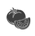 tomato glyph icon vector image vector image