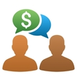 Trader Chat Gradient Icon vector image