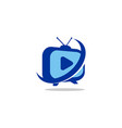 tv station logo vector image vector image