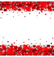 valentines day border isolated white background vector image vector image