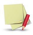 yellow paper sticker vector image vector image