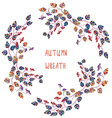 Autumn frame for the greeting card or sale banner vector image