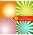 stylish sunburst background collection vector image