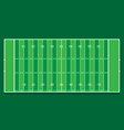 american football field top view green background vector image