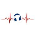 love heart headphones flat icon an vector image