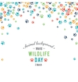 Abstract banner promotion of world wild life day vector image