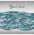 Abstract doodle decorative waves background vector image vector image